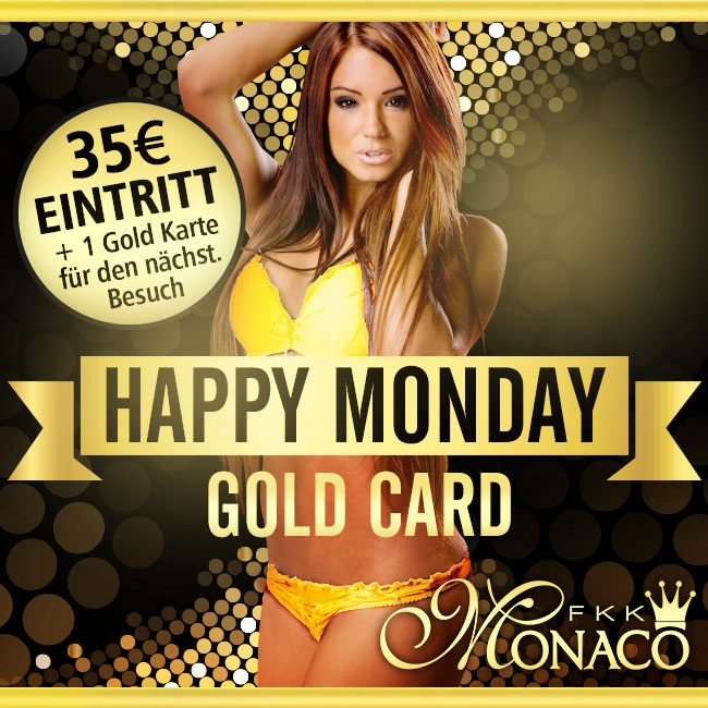 Happy Monday - Gold Card